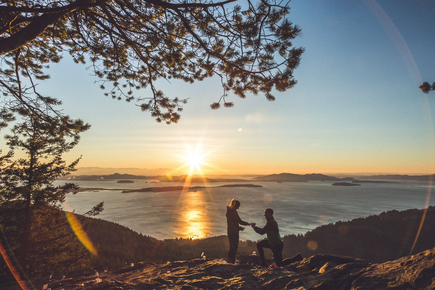Oyster Dome WA Wedding Proposal Photography on Mountain Top