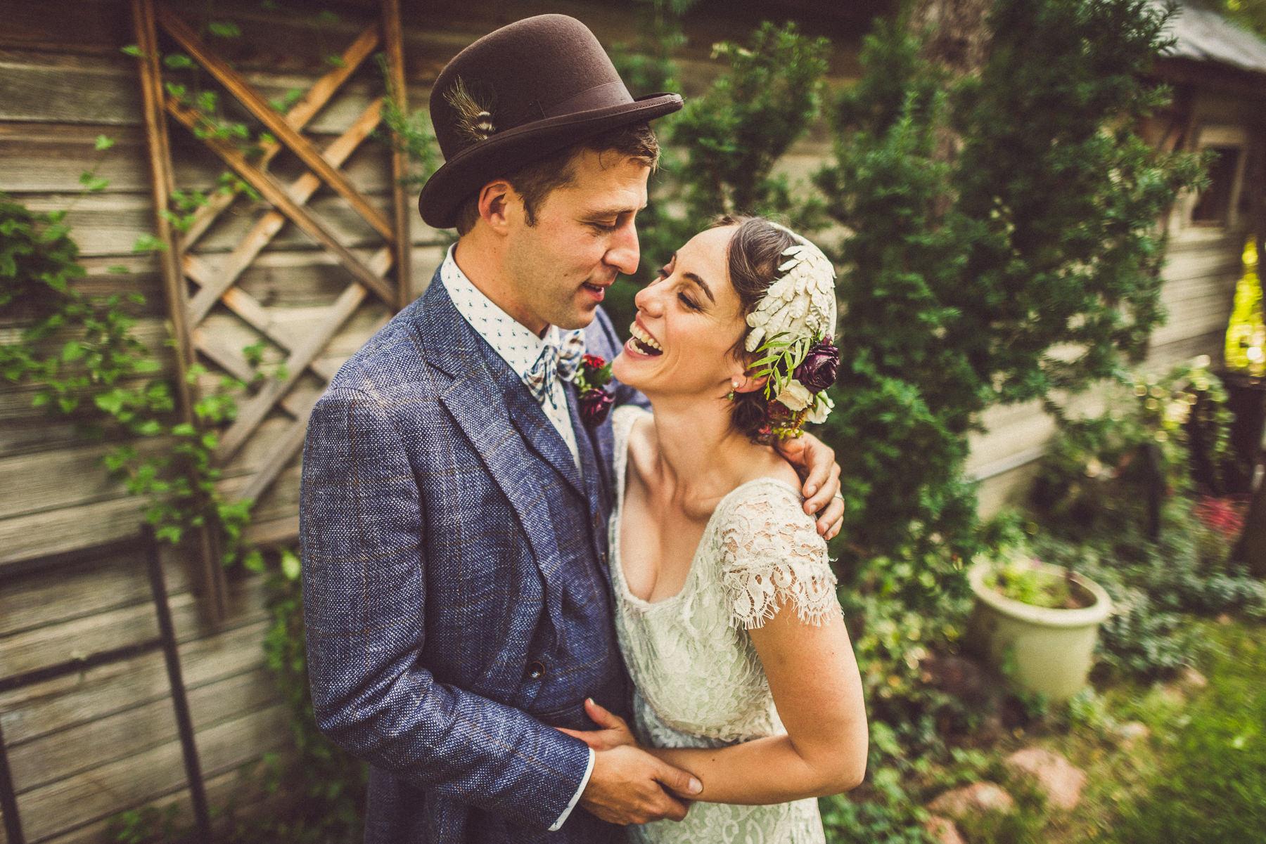 Wedding portrait photography of couple at their Hillside Gardens & Events Center wedding